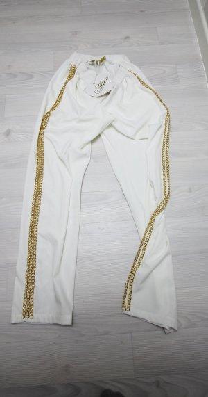 pantalonera blanco-color oro