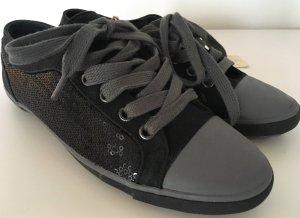 NEU Springfield Sneaker 37 Schwarz Pailletten Slipper Flats Slipon Halbschuh