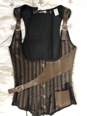 Corsé color bronce-marrón claro