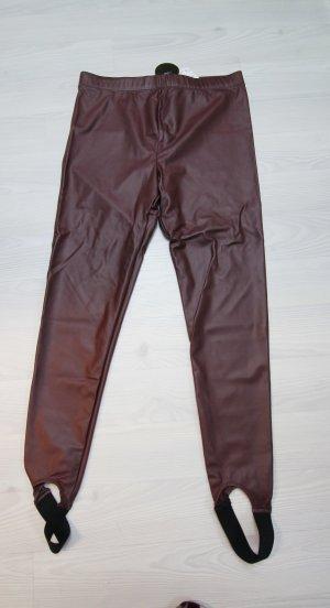 Forever 21 Pantalone nero-marrone-rosso