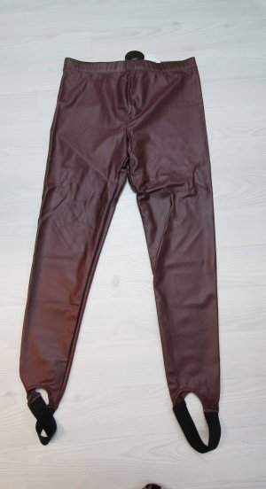 Forever 21 Strapped Trousers black-brown red