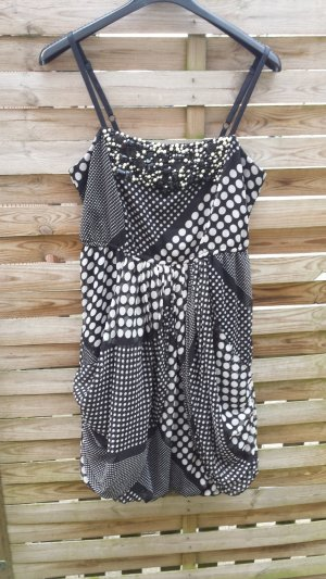 Steps Robe ballon noir-blanc polyester