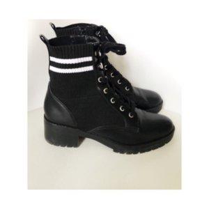 NEU Steve Madden Boots Schnürboots Springerstiefel Schnürstiefel Stiefel Größe 40 schwarz weiß