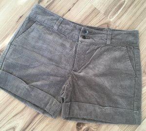 NEU Stile Benetton Kord Shorts IT38 XS 32 34 Grau Taupe kurze Hose Hotpants Sommerhose Shommershorts