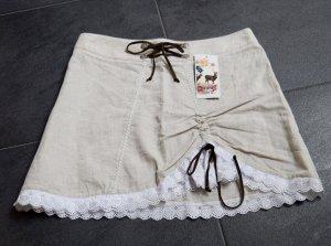 Stockerpoint Traditional Skirt cream-white mixture fibre