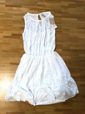 Neu! Stradivarius Hippie Stickereien Kleid XS 32 34 Empire Blogger