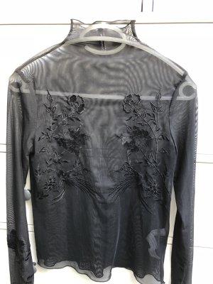 Stradivarius Mesh Shirt black