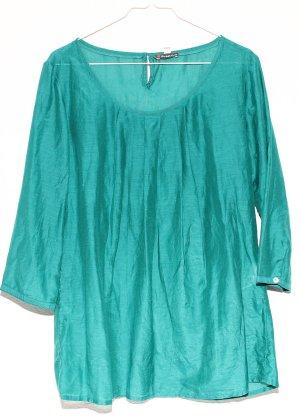 NEU ! Street One Tunika Bluse 40 mit Seide – türkis ( grün blau )