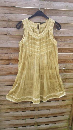 Neu Strenesse Gabriele Strehle Sommerkleid Kleid Hippiekleid  Minikleid  Grün Batik S M