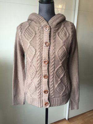 Orsay Coarse Knitted Jacket brown