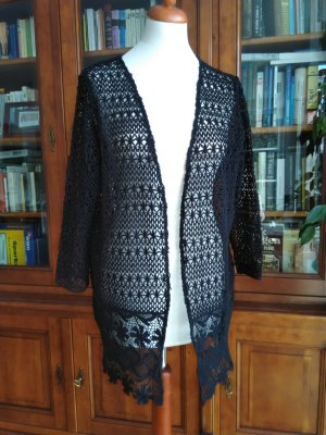 HM Cardigan all'uncinetto nero Cotone