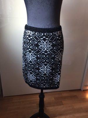 C&A Jupe tricotée noir-blanc