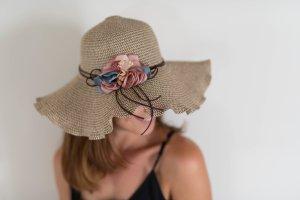 Cappello parasole marrone chiaro