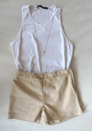 NEU & stylisch! H&M High Waist Shorts, kurze Stretch Hose, beige Gr. 34, XS