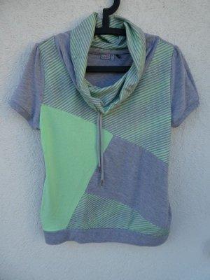 NEU - Sublevel – Shirt, hellgrau mit neon-mint