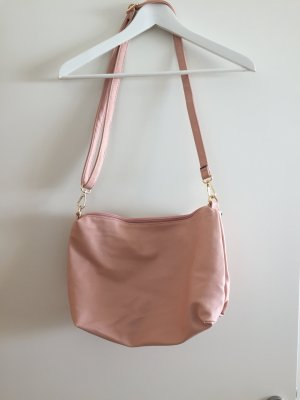 Crossbody bag pink-light pink imitation leather
