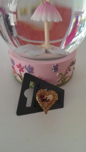 NEU Süßer Pilgrim Ring im Vintage-Stil, vergoldet mit Kristallen