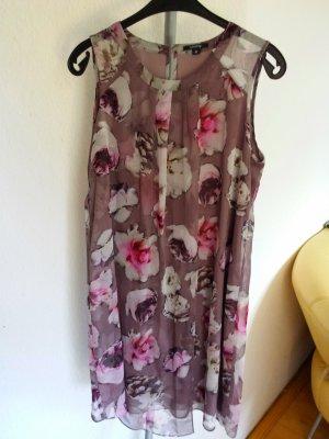 Comma Vestido de manga corta multicolor poliamida