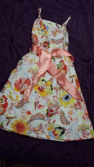 NEU Süßes florales Kleid mit abnehmbaren Trägern ungetragen