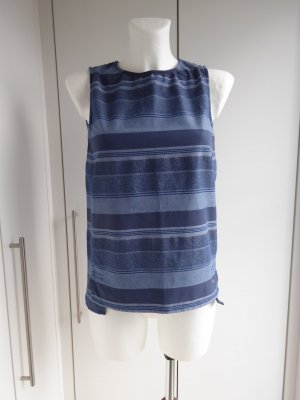 Tommy Hilfiger Sleeveless Blouse blue-steel blue cotton