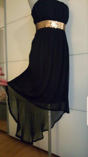 NEU super schönes Bandeau Kleid (Gr.L) schwarz/gold