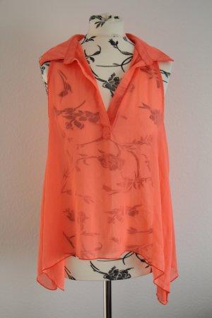 NEU! Super Süße High Low Bluse in Trend Neon