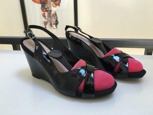 NEU superbequeme GEOX Schuhe mit Keilabsatz Peeptoes