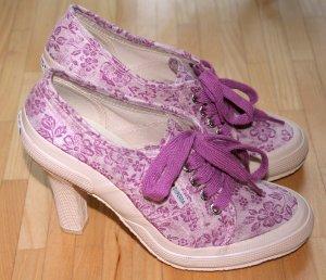 NEU SUPERGA Schuhe 2065 TXFlowerW Heritage High Heel im Sneaker Design