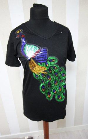 NEU T-Shirt Bling Bling mit Vogel Pfau WOW Animal