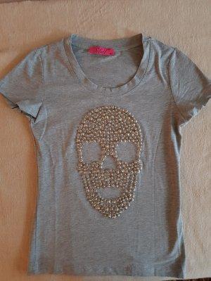NEU: T Shirt von Seibel Gr. M grau mit Totenkopf