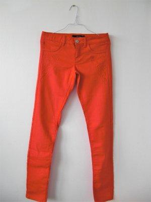 Neu Tally Weijl- Damen Skinny Jeans Orange Gr.38