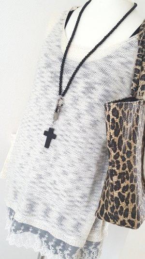 NEU ❤ Tally Weijl ❤ Pullover mit Spitzen-Saum ❤ L