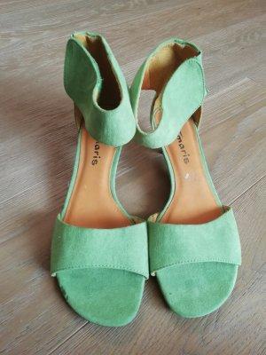 NEU Tamaris Damen Sandalen Schuhe Grün Gr 39