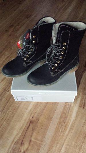 Tamaris Chaussures à lacets noir-marron clair