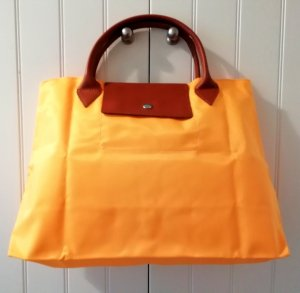 Carry Bag dark yellow-cognac-coloured synthetic