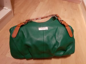 Aniston Carry Bag forest green-cognac-coloured