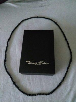 NEU Thomas Sabo Bead-Kette aus Stein Obsidian UVP 98 NEU