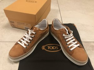 Tod's Lace-Up Sneaker white-camel leather
