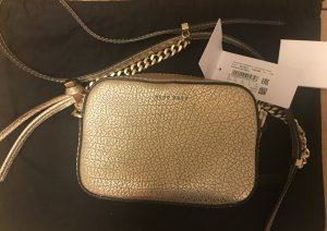 Hugo Boss Crossbody bag sand brown-gold-colored leather