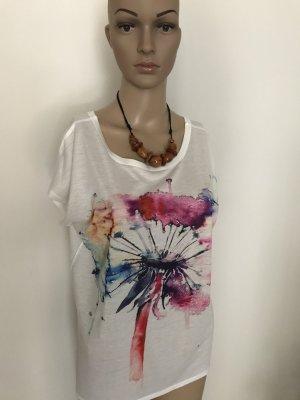 Camiseta estampada multicolor tejido mezclado