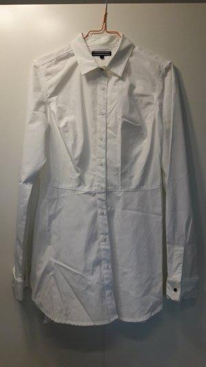 NEU Tommy Hilfiger schicke lange Bluse Longbluse weiß Baumwolle Gr. US 6 EU 36