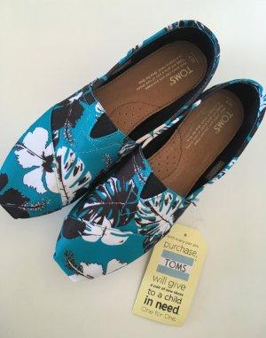 NEU Toms Espandrilles 37,5 UK5 Ballerina Sneaker Slipons Damen Slipper Halbschuh
