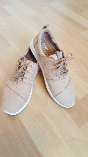 neu, TOMS Ledersneaker, Gr. 38,5, hellbraun