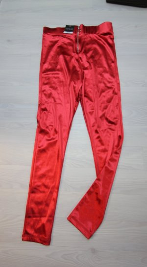 Topshop High Waist Trousers red-silver-colored