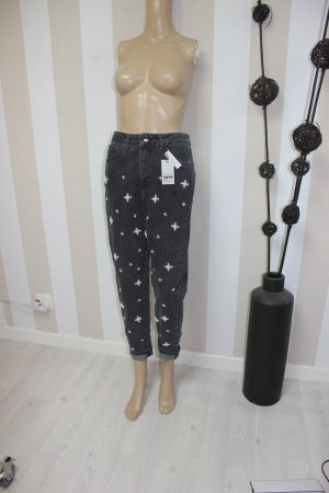 Topshop Jeans grigio scuro-bianco