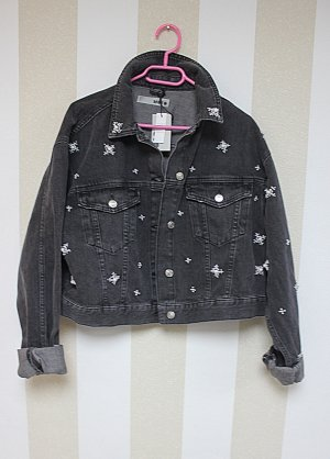 NEU TOPSHOP Jeans Jacke mit Perlen