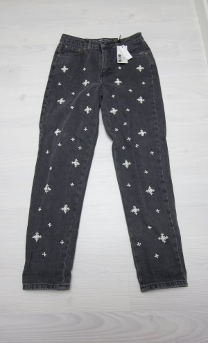 Topshop Trousers anthracite-white