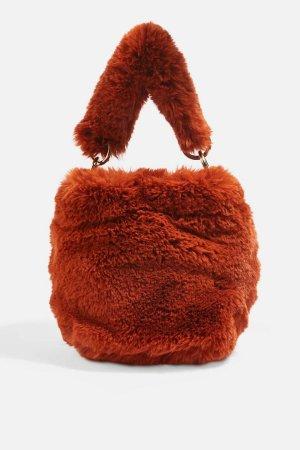 Neu! Topshop Teddy Tasche Rost Umhängetasche Street Style Cosy Ausverkauft!