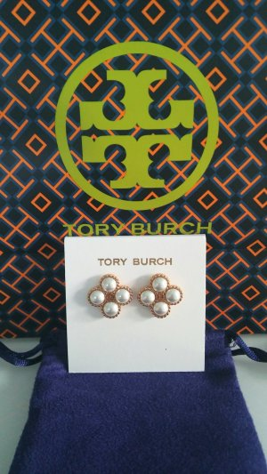 Tory Burch Ear stud white-gold-colored