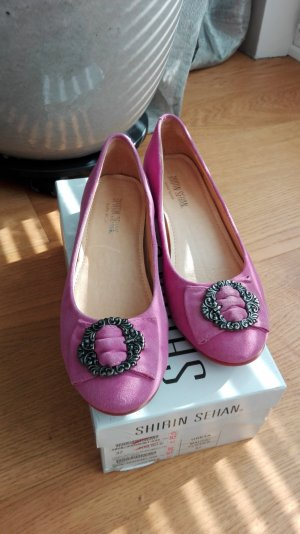Backless Pumps pink leather